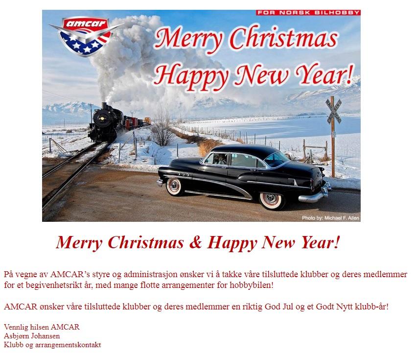 d55528d3 Her kommer en julehilsen fra AMCAR i Trondheim...med klubbkontakt Asbjørn  Johansen i spissen: